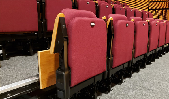 Brentwood School, Los Angeles chairs installed by Titan Carter